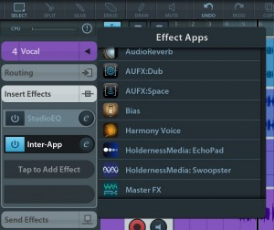 Swoopster is one of a growing number of effects apps that support IAA.