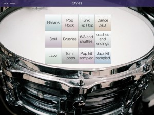 Drum Loops HD covers a range of musical styles played on an acoustic kit.