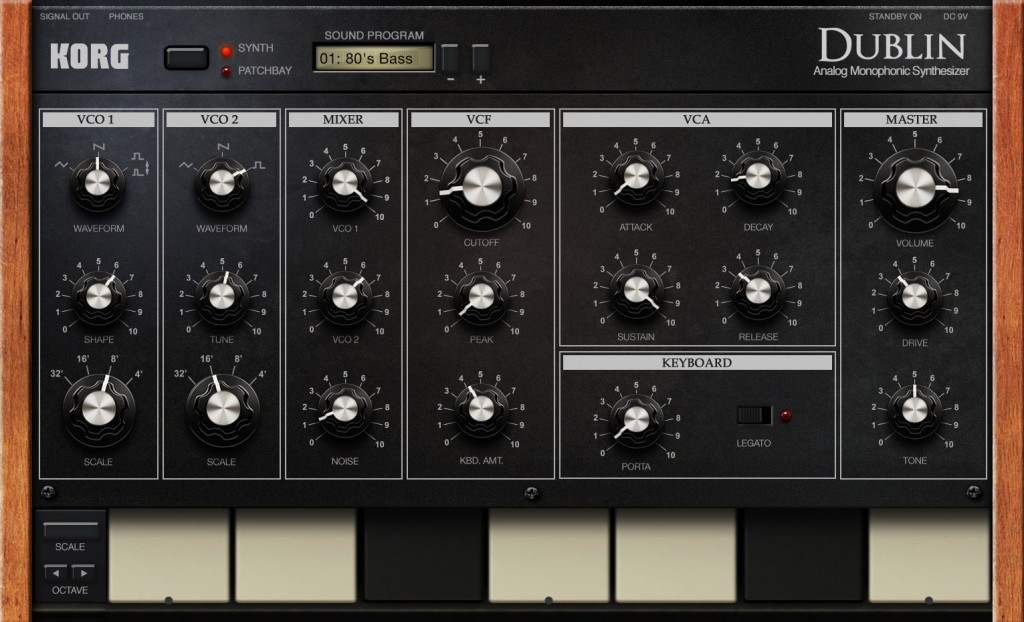 Dublin is a semi-modular mono synth and great for bass sounds.