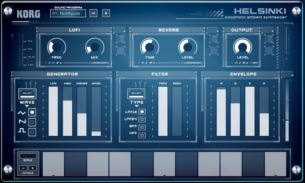 Helsinki is a poly synth that's great for pads and atmospheric sounds.