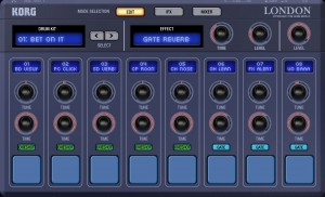 The London drum machine - essentially a sample-based drum tool but supplied with an impressive set of preset kits and samples.