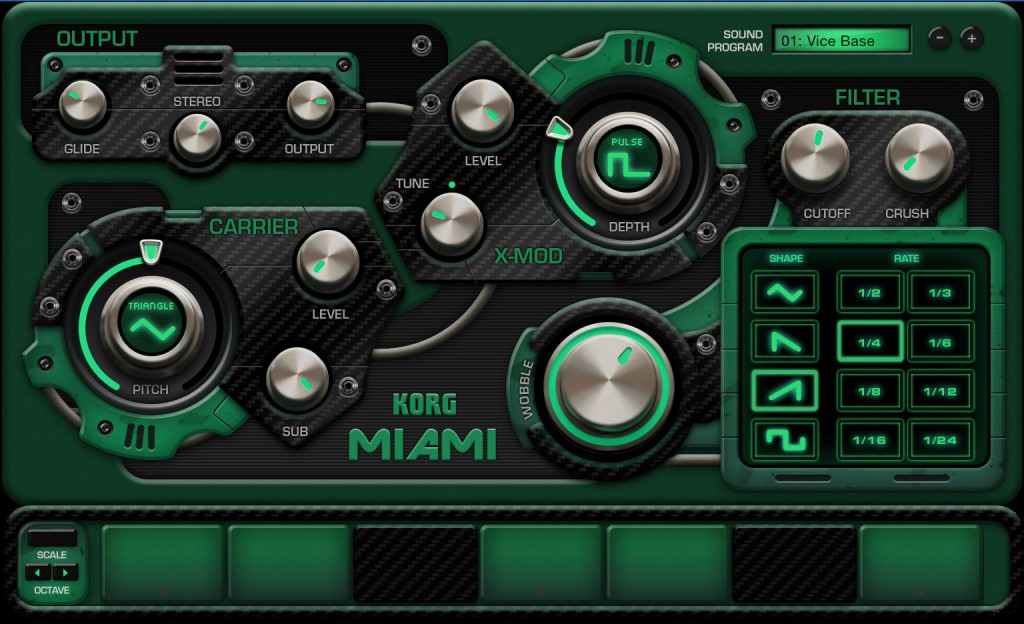 For an instant dose of dubstep wobble then Miami is the gadget to go for.