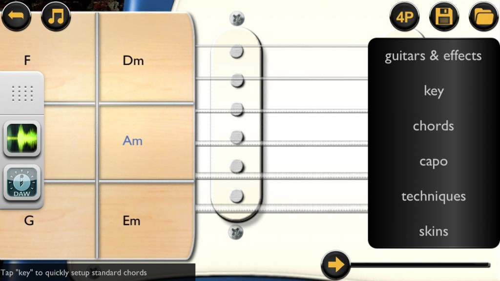 Guitarism now has electric options via the Rockstar Collection IAP - and still works great with Audiobus.