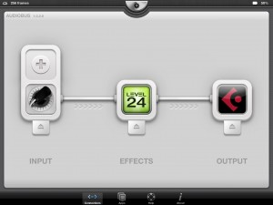 Used in Audiobus, Level.24 seemed pretty smooth.