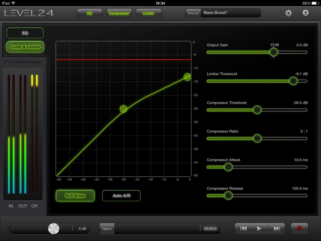 The compressor/limiter module is nicely presented and offers enough control to get most jobs done.