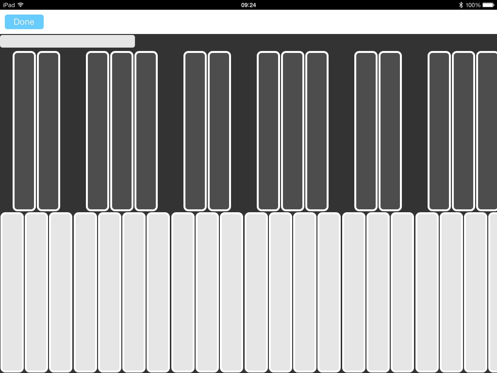 The iOS version now includes a virtual MIDI keyboard and this is useful for testing connections made via Apollo.