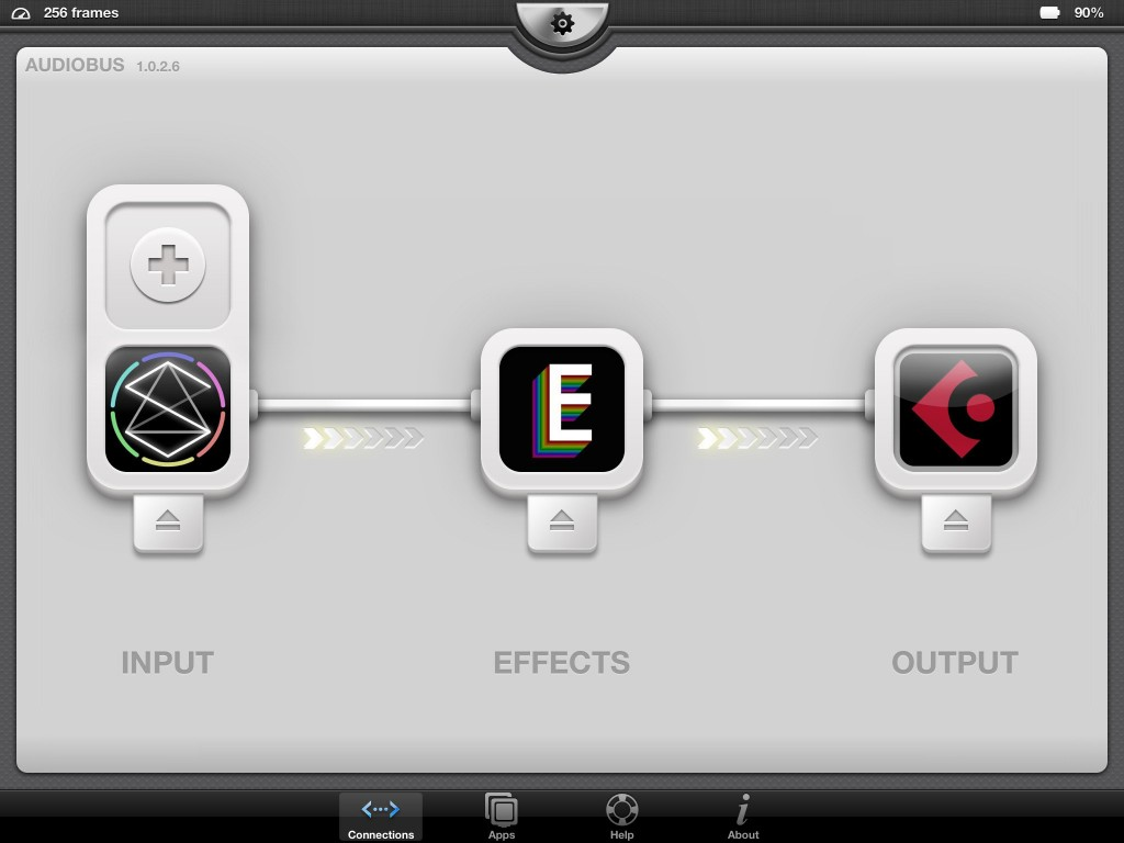 Oh....  this is an interesting combination :-)  Sector seems to work very solidly within the Audiobus Input slot.