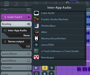 The IAA support in DrumPerfect seemed to work very well with Cubasis.