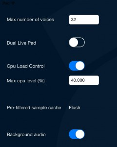Within the Setting options, you can configure just how much of your iPad's resources Drumperfect is allowed to use - very neat and should help users on older hardware keep things under control.