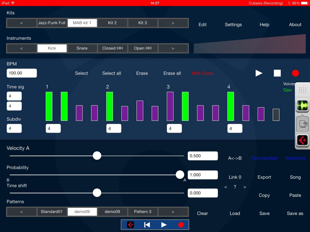 DrumPerfect uses some a clever sample engine to help create realistic drums from relatively few samples.