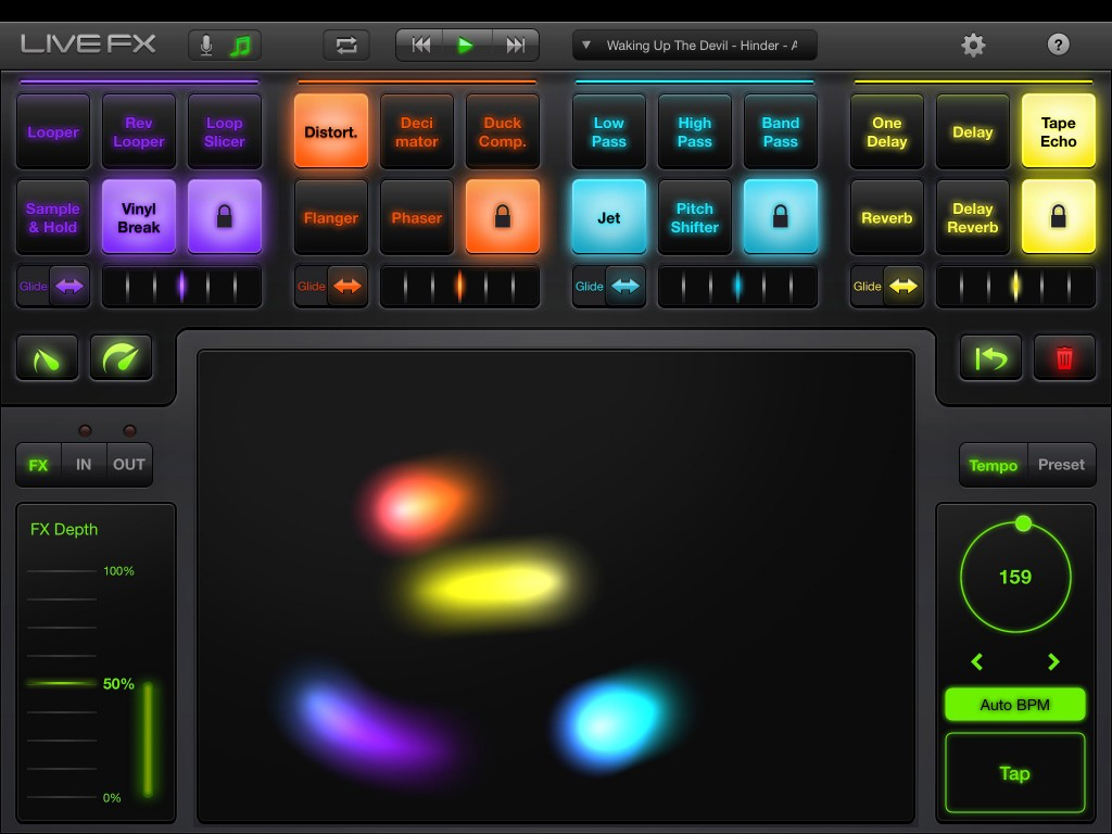LiveFX - creative audio effects in an easy to use format.