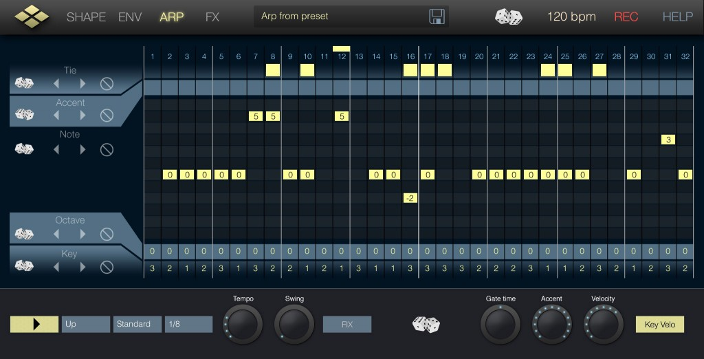 The Arp options are excellent; a great balance between features and ease of use.