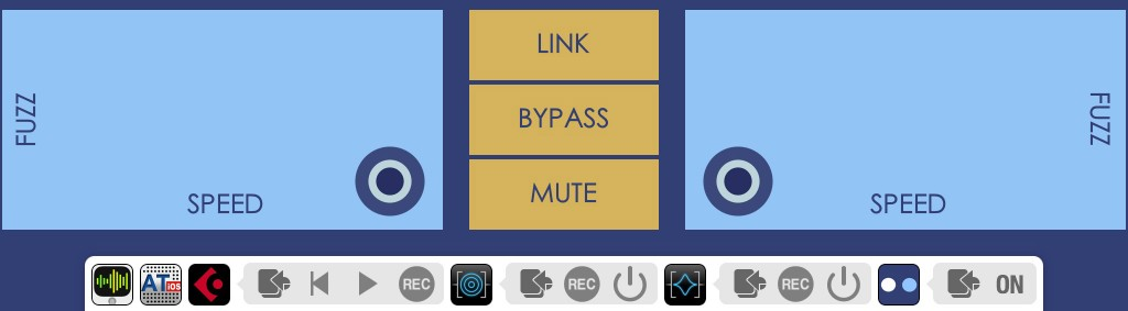 The Connector Panel has a few cosmetic differences but, for apps that are fully Audiobus 2 compatible, also includes the On/Off bypass toggle.