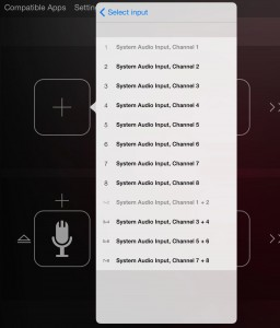 If you are using a multi-channel audio interface, you can specify which audio input is associated with each Audiobus 2 signal chain.