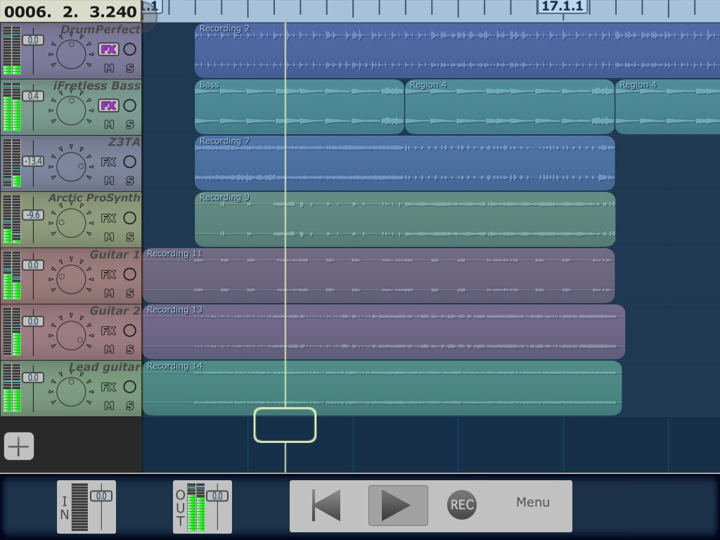 Multitrack DAW - a streamlines iOS recording environment that runs well on both iPad and iPhone.