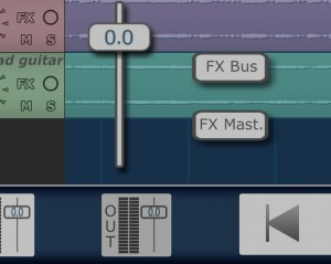 Tap on the Out icon and you get access to the bus and master FX options.