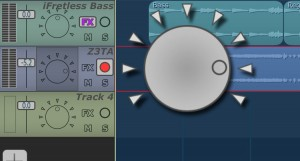 Each track has a pan control.
