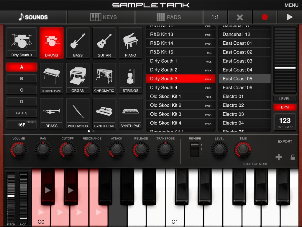 SampleTank includes both a good range of sounds but also some MIDI performances/patterns that can be used in your own projects. The drum patterns are particularly useful.