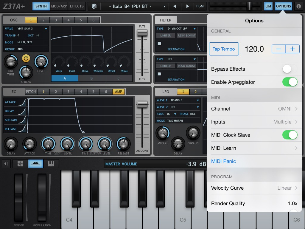Cakewalk have added a whole range of new MIDI features to Z3TA+