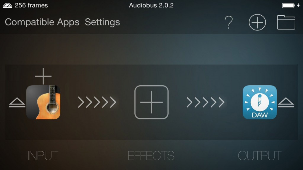 Audiobus 2 is also always on stand-by should the need arise.