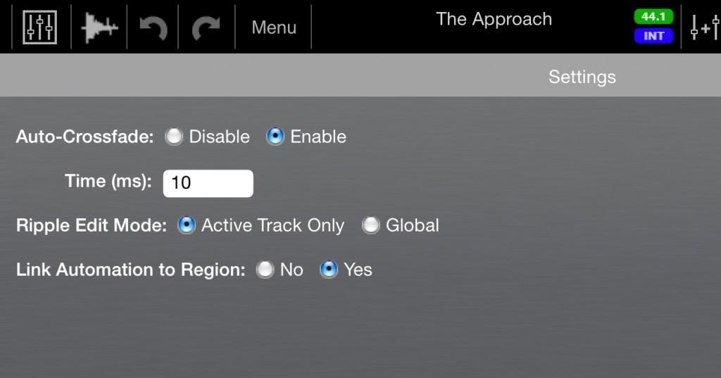 auria link automation to region option
