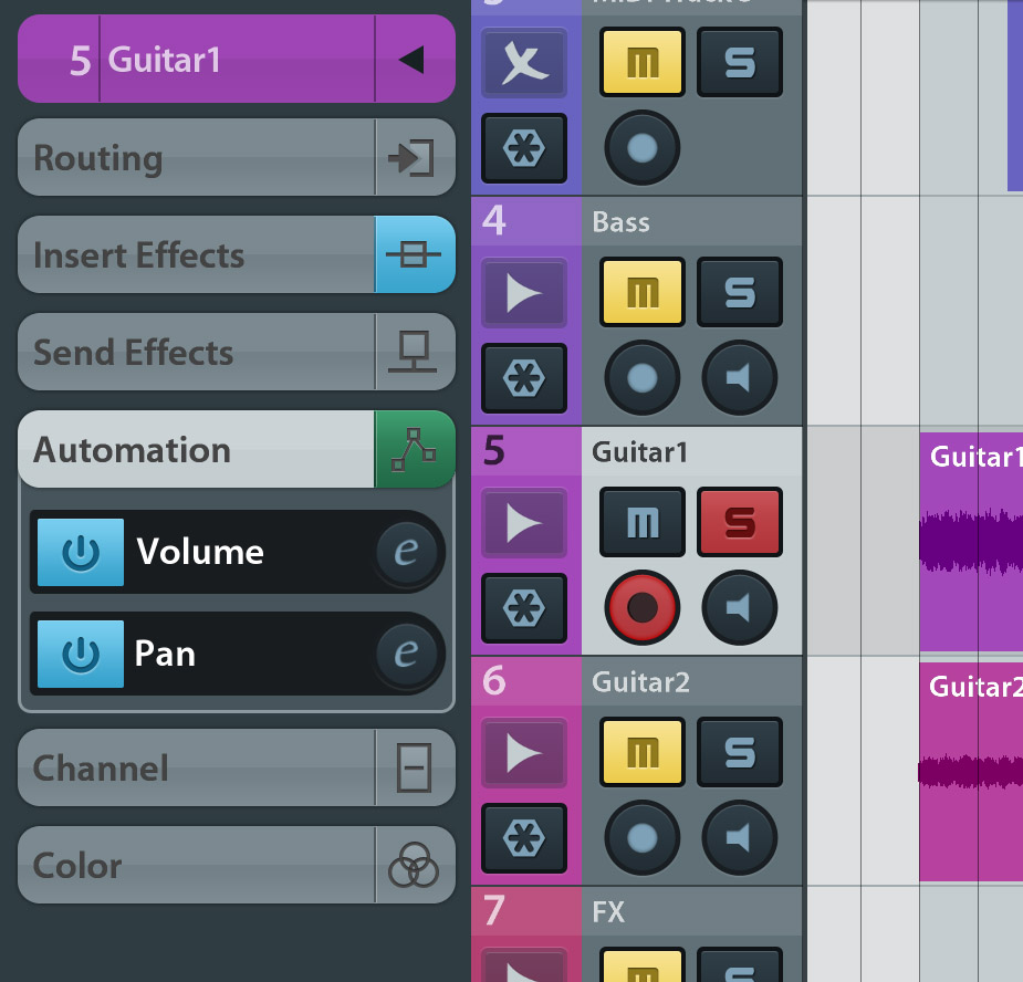 Cubasis now includes a fully-featured automation system.