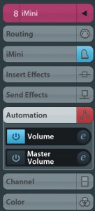 In the Track Inspector Automation panel, you can turn off the automation for individual parameters if required.
