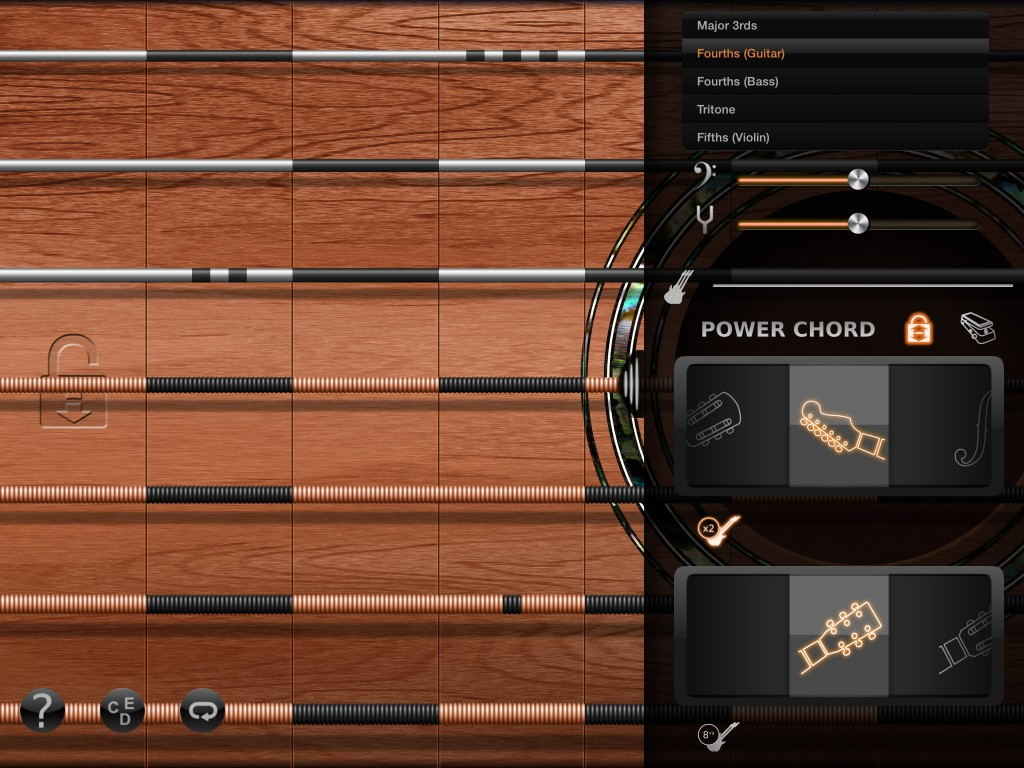 iFretless Guitar - the main interface will be familiar to users of iFretless Bass.