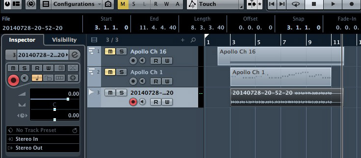 Import the ARR audio file into Cubase, line it up with my MIDI trigger note and a perfect sync is easy to make.