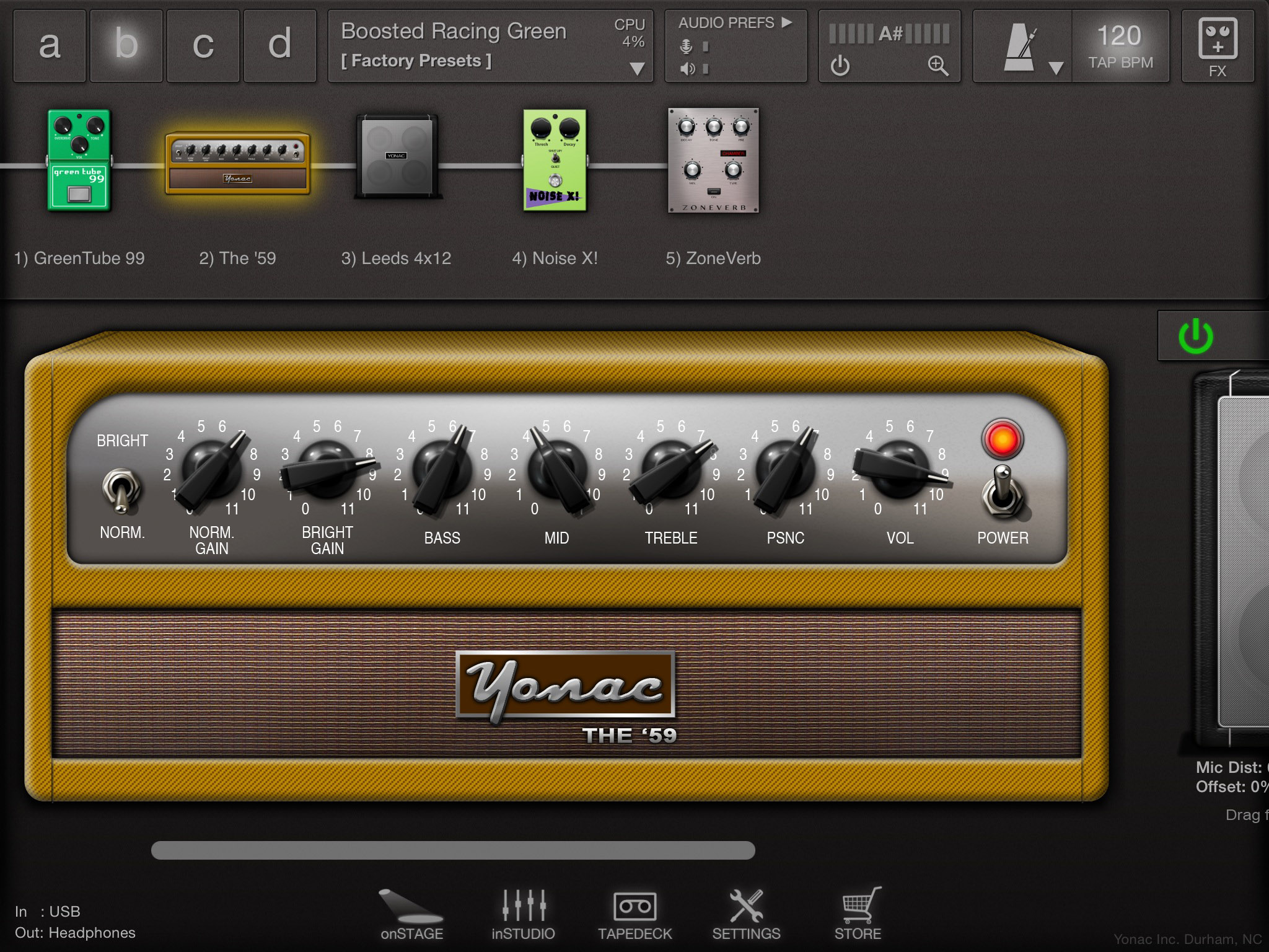 Guitar amp simulator