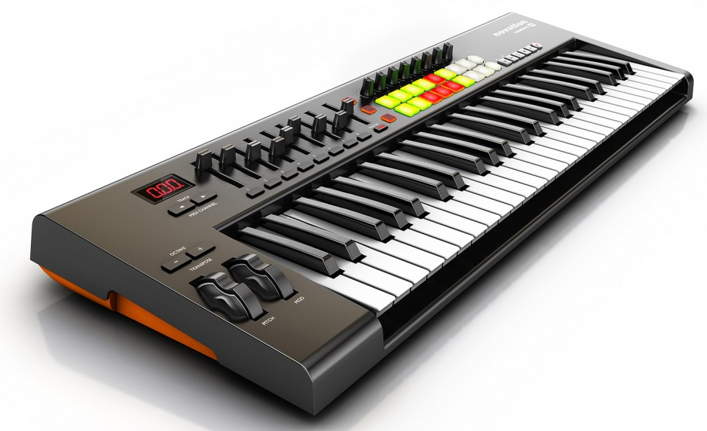 MIDI controller keyboards provide a much better playing experience that a 'virtual' piano keyboard even with the excellent touchscreen interface provided by the iPad....  although you don't have to go for something as big at this model from Novation.