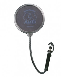 A pop-filter can be a very useful accessory when recording vocals.