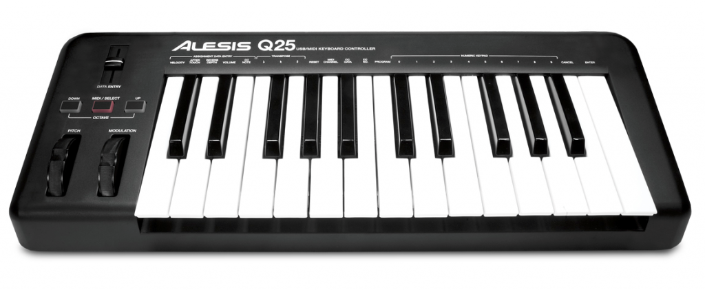 The Alesis Q25; simple and compact.