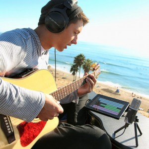 One of the beauties of an iPad recording studio is the mobility it offers....  you can record almost anywhere.