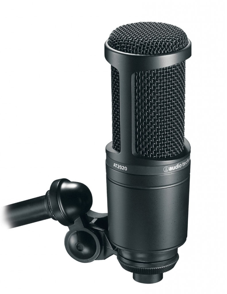 The Audio Technica AT2020 might be a 'budget' microphone but it can deliver good clean results if used with due care and attention.
