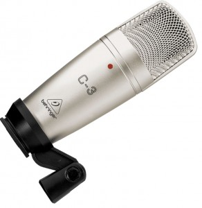 Behringer's C-3 microphone; performance is solid at a budget price.