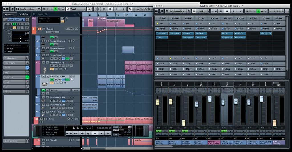 Sophisticated desktop recording software such as Steinberg's Cubase recreates a whole studio full of recording equipment in a virtual format.