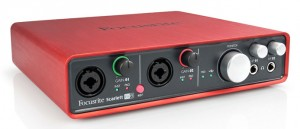 Focusrite's USB Scarlett 6i6 interface is designed for the desktop but works well with a iPad, has 4in/4out analog audio, MIDI connectivity (on 5 pin sockets) and very good audio quality.