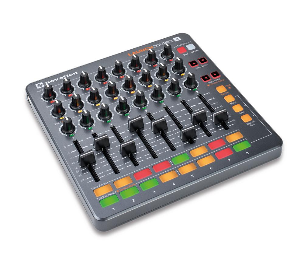 The Novation Launch Control XL provides an impressive selection of control options.