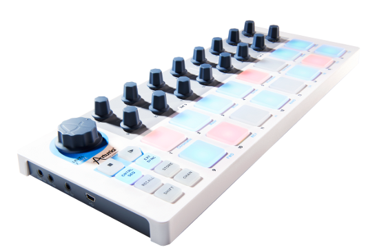 Arturia's Beatstep is a compact and very stylish MIDI controller with iPad support.