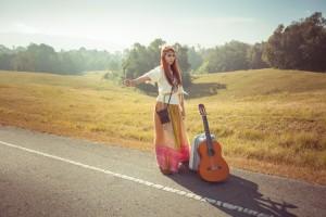 female musician travel