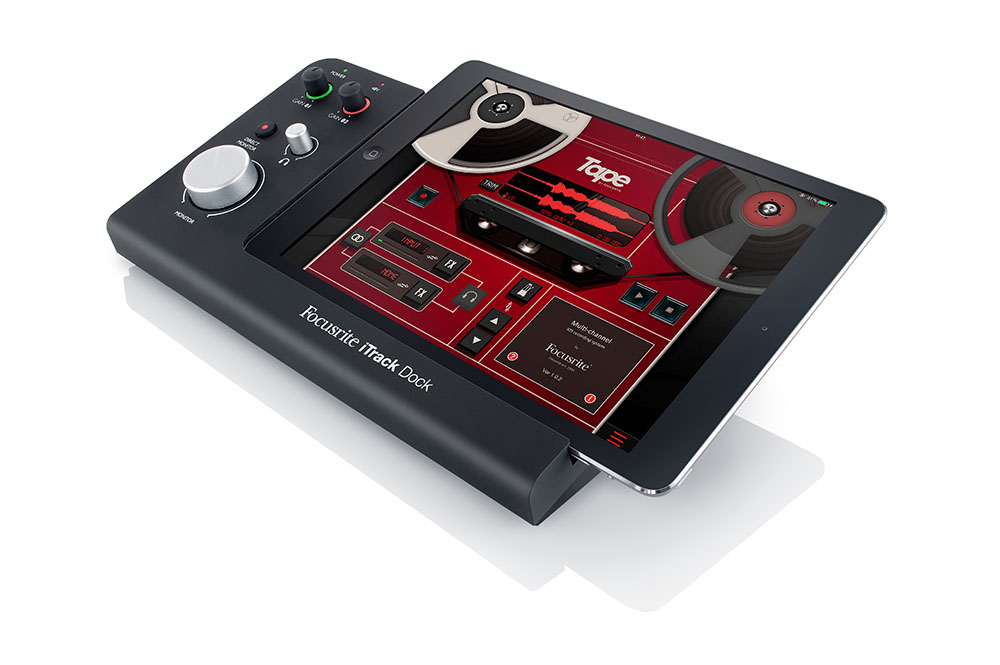 Focusrite's iTrack Dock - one of several new audio+MIDI interface options for the iOS musician launched in 2014.