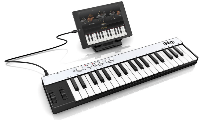 IK Multimedia's iRig Keys is designed specifically for use with an iPad.