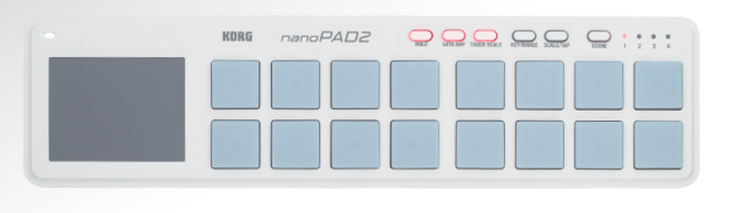 Korg's 'nano' range includes the KONTROL and - as shown here - the PAD models.