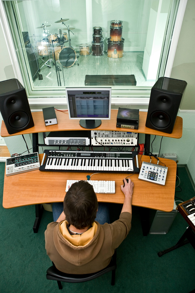 You can build a sophsticated persoanl studio around a desktop computer and some suitable hardware/software choices. How much of this can you replicate with an iPad and a recording app?