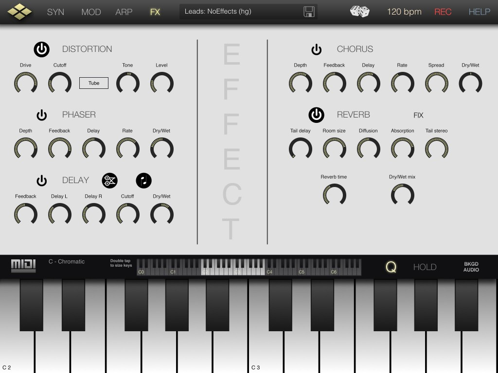 Tera Synth's effects are not supper-advanced but there is enough here to add a little extra spice when required.
