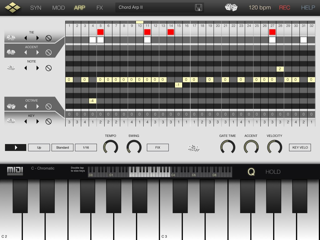 Pretty much identical to that found in microTEAR, Tera Synth's arpeggiator is excellent.