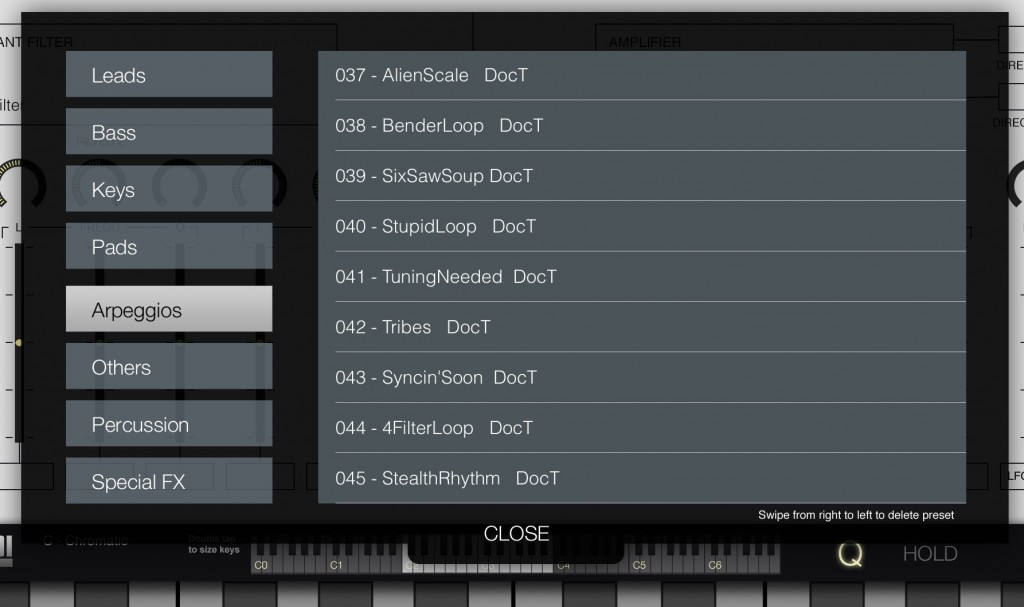 The preset system is well organised and contains nearly 1000 presets to get you started.