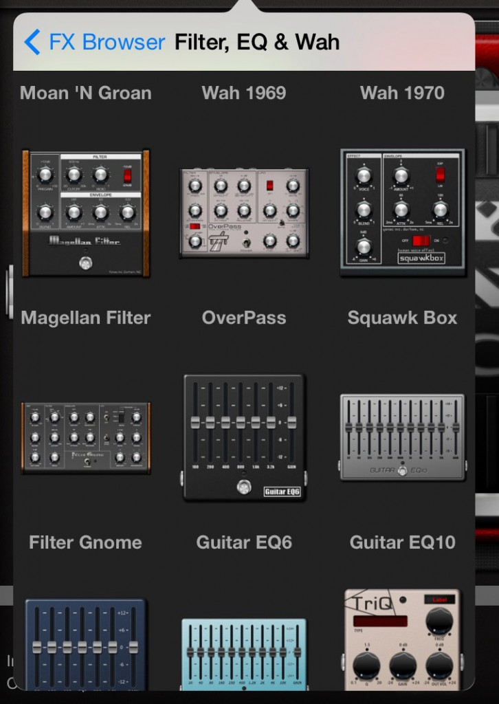 In total, the Motherload option provides you with some 50effects pedals to explore.