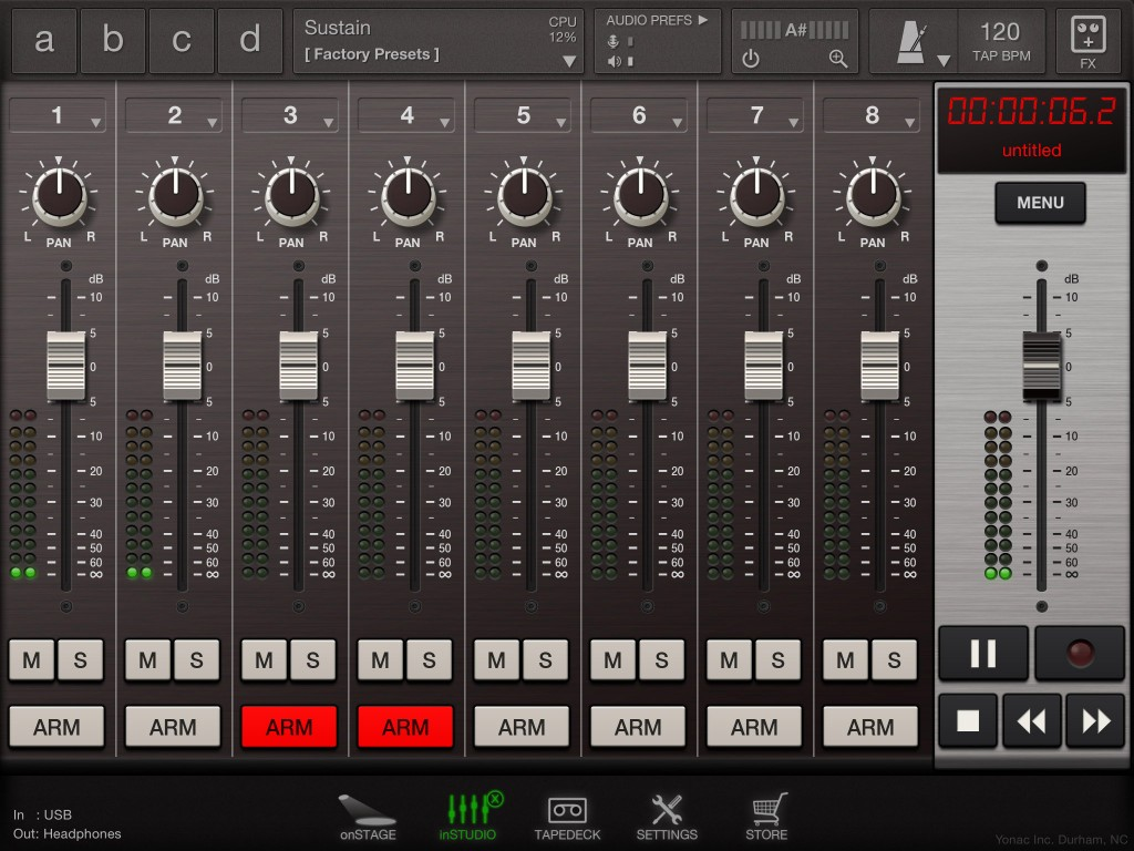 For basic 8-track recording needs, the inStudio options is a usefull addition.